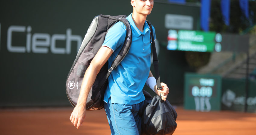 Na Huberta Hurkacza czekają nowe wyzwania – przed nim turnieje na czerwonej mączce. (źródło: Łukasz Cynalewski / Agencja Gazeta)